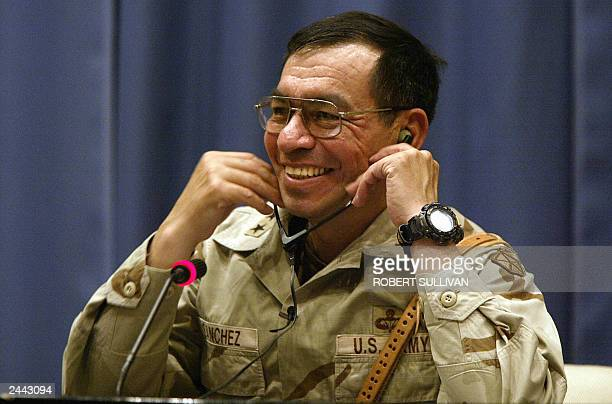 Top US soldier in Iraq Lieutenant General Ricardo Sanchez smiles during a press conference 28 August 2003 in Baghdad The ground commander said the...