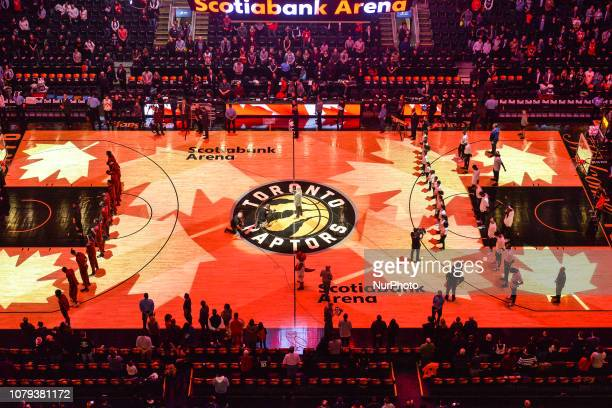 Top view at Scotiabank arena before the Toronto Raptors vs Cleveland Cavaliers NBA regular season game at Scotiabank Arena on December 21 in Toronto,...