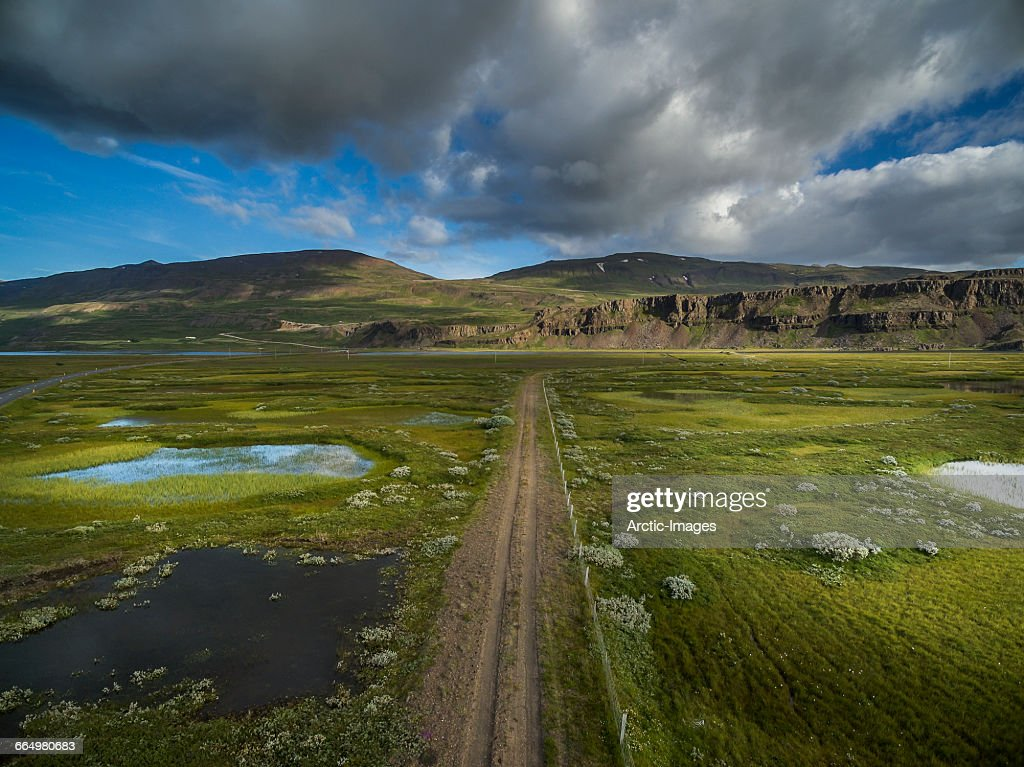 Top view- Eastern Landscape, Iceland : Stock Photo