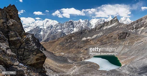 Top view from Renjo la pass, Everest region