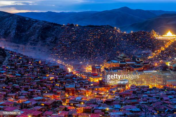 Top view monastery at Larung gar (Buddhist Academy)