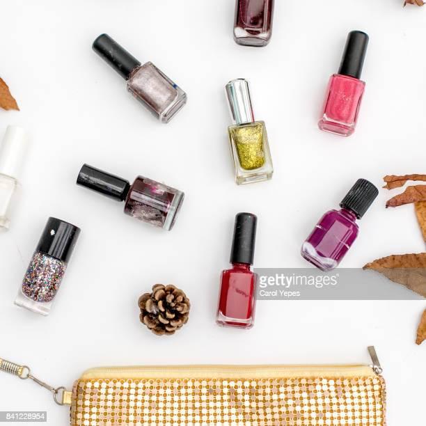 top view nail polish - nail polish stock pictures, royalty-free photos & images