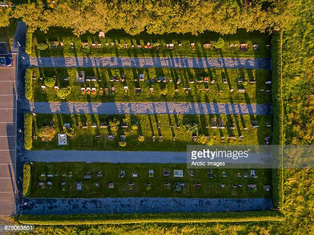 Top view of a Graveyard