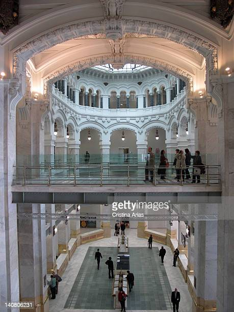 Top view of a wing of the courtyard was called Operations were providing various telecommunications services in the Palacio de Comunicaciones now...