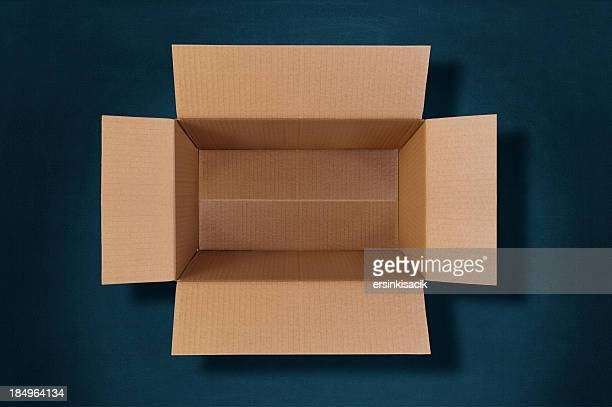 top view of an empty cardboard box
