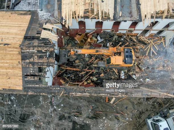 Top view of demolition site