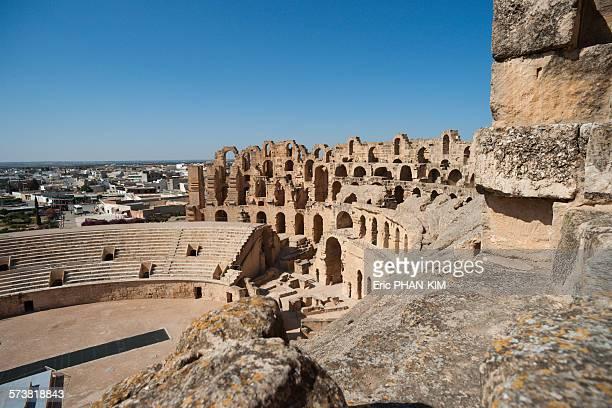 Top view of El Jem Amphitheatre