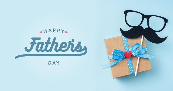 top view of fathers day concept with copy space 1151807768