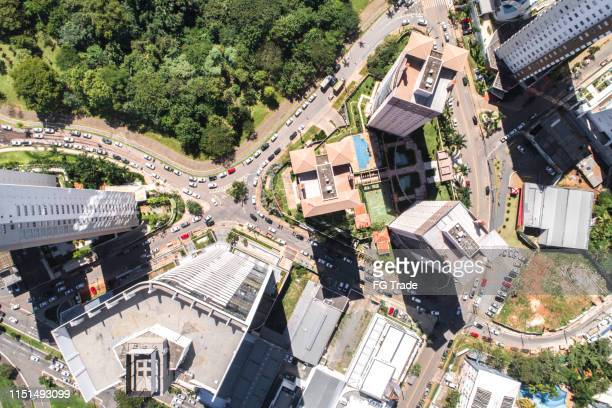 top view of goiânia (go), showing flamboyant park - goiania stock pictures, royalty-free photos & images