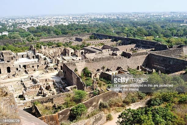 Top view of Golkonda Fort, Hyderabad
