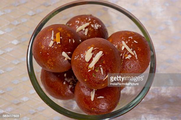 top view of gulab jamun - mithai stock pictures, royalty-free photos & images