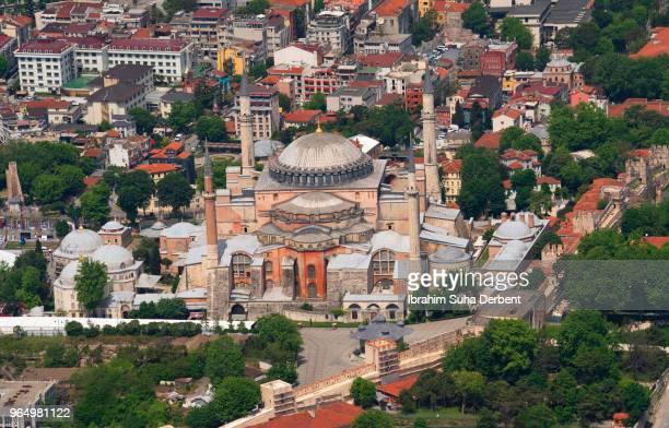 Top view of Hagia Sophia Museum in Istanbul