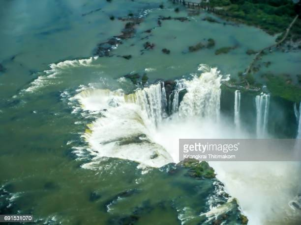 Top view of Iguazu Falls from Brazil side.