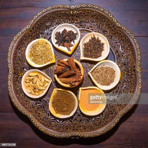 Top view of Indian Spices