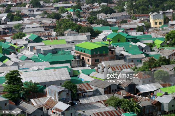 A top view of Korail Slum is located beside the GulshanBanani Lake in Dhaka About 40700 people lived in Korail slum the biggest slum in Dhaka