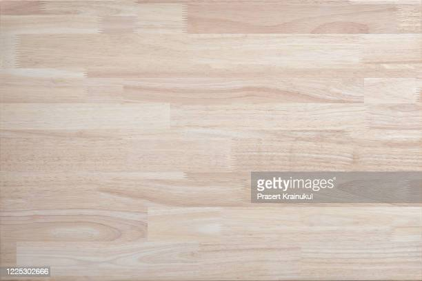 top view of para rubber wood plank - tafel stockfoto's en -beelden