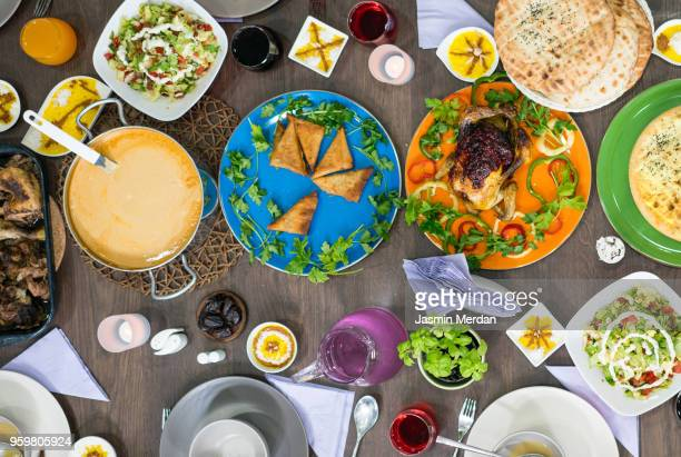 Top view of Ramadan table