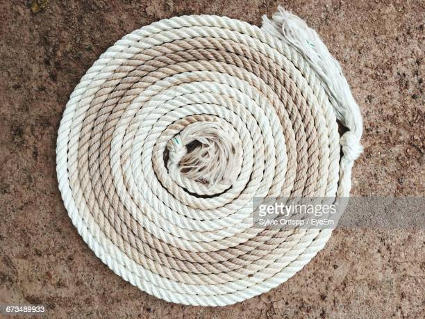 Top View Of Rolled Up Rope
