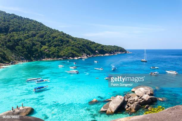 top view of similan island at mu koh surin national park - phuket province stock pictures, royalty-free photos & images