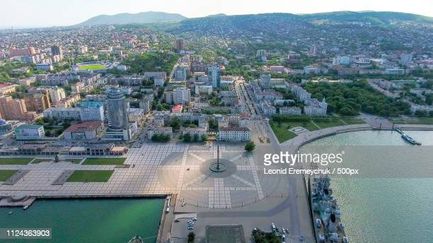 Top View Of The Marina And Quay Of Novorossiysk
