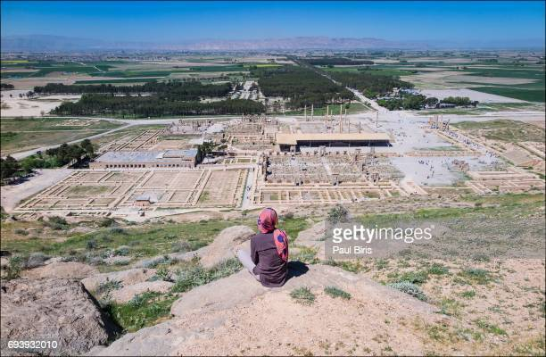 top view of the ruins of the city of persepolis, iran - persepolis stock pictures, royalty-free photos & images
