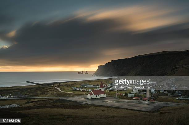 Top View of Vik, Iceland
