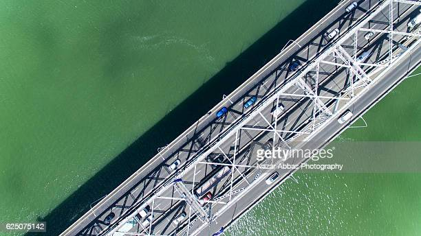 top view waitemata harbour on a sunny day. - waitemata harbor stock photos and pictures