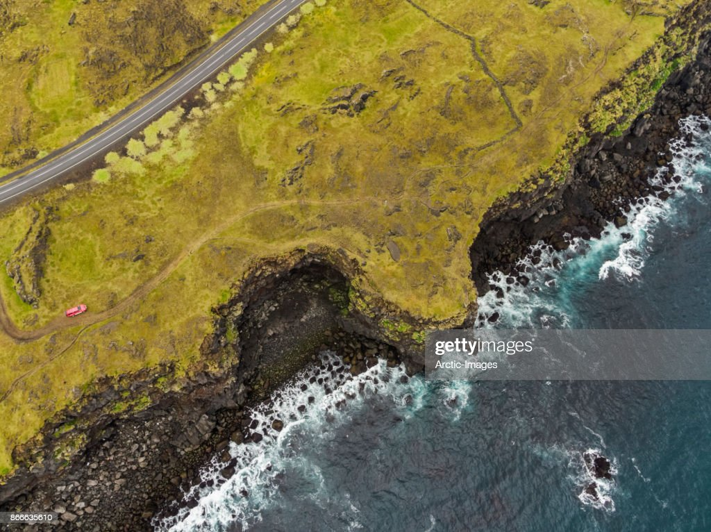 Top view-Cliffs and the Sea : Stock Photo