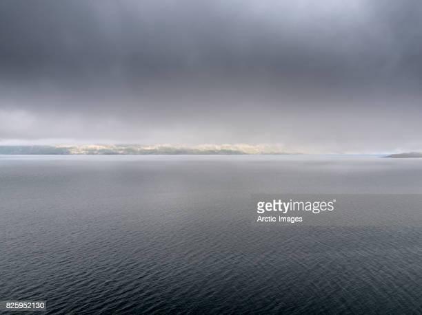 top view-eyjafjordur, akureyri, iceland - ruhe vor dem sturm stock-fotos und bilder