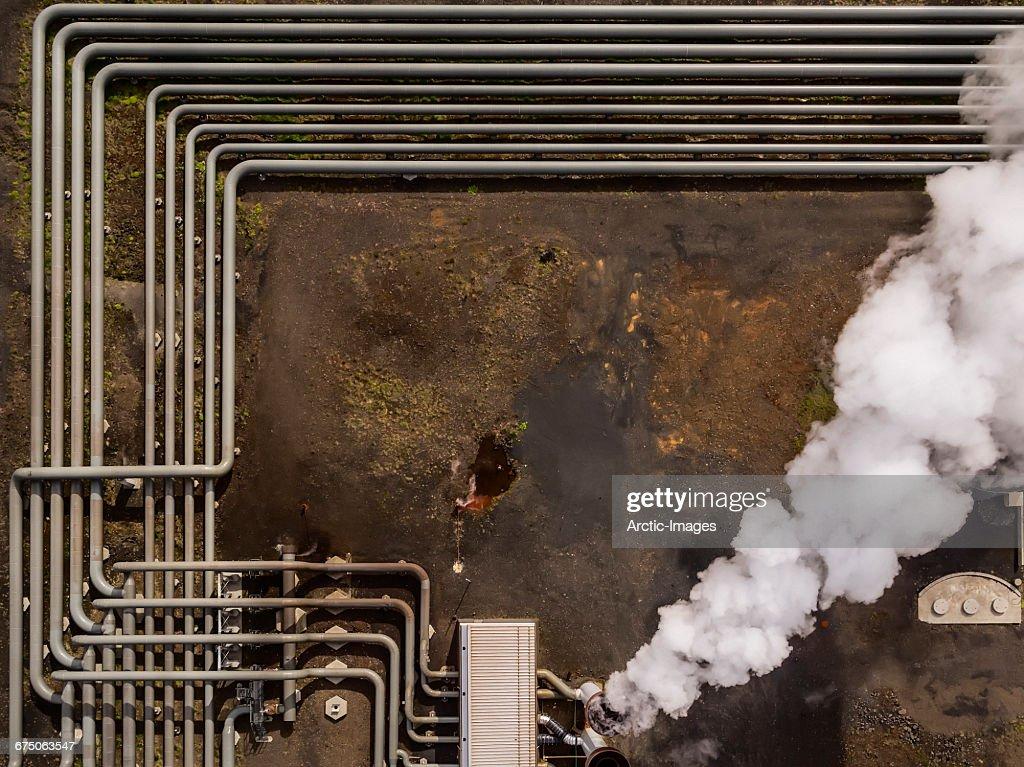 Top view-Hellisheidi Geothermal Plant, Iceland : Stock Photo