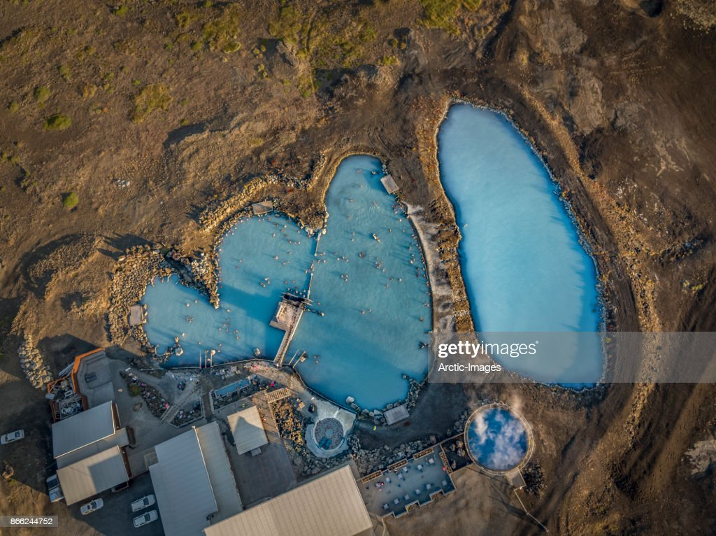 Top view-Myvatn Nature Baths, Northern Iceland : Stock Photo