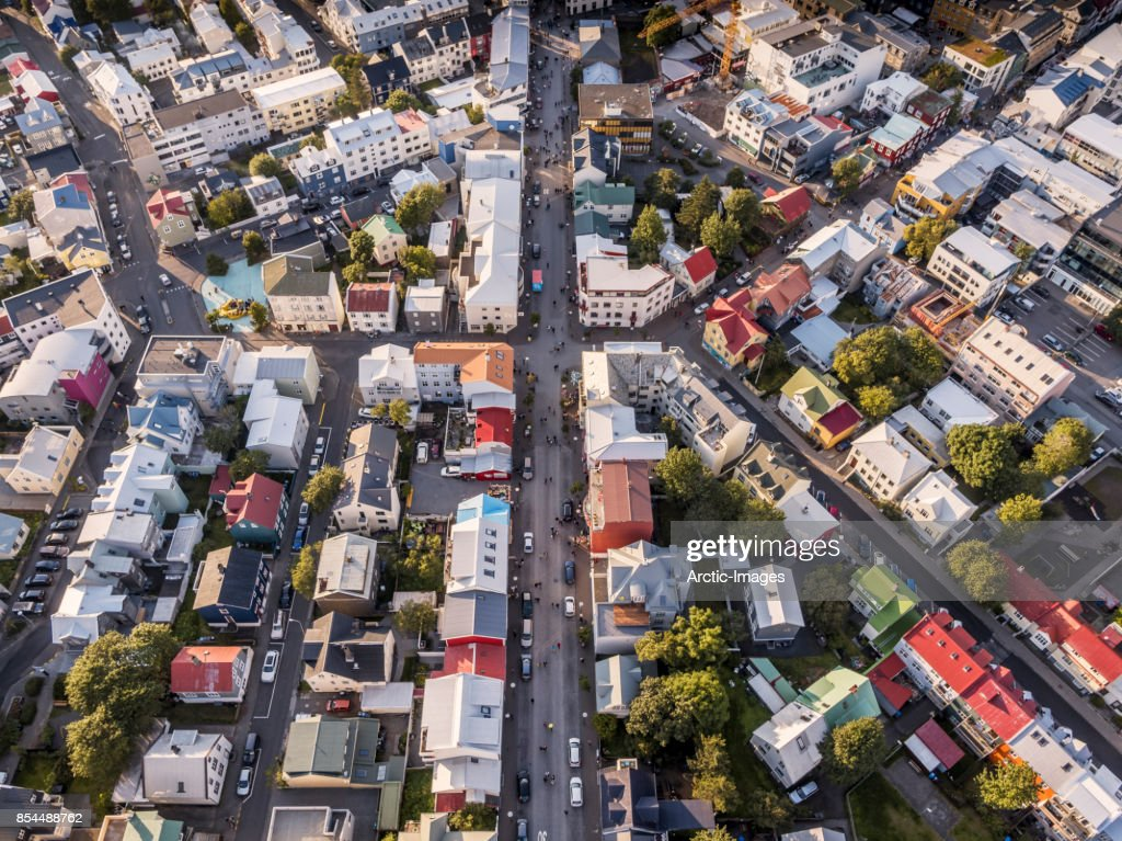 Top view-Reykjavik, Iceland : Stock Photo
