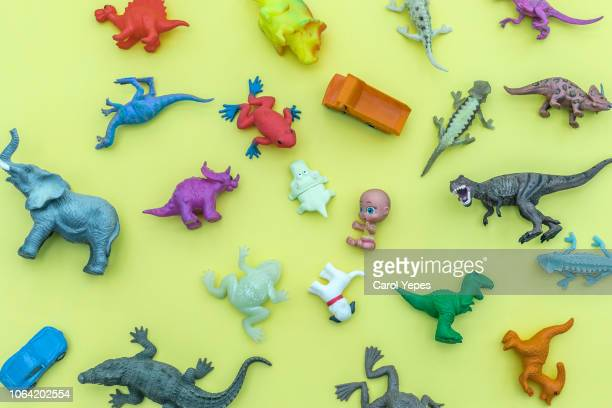 top view.toys for boys. concept - toy stock pictures, royalty-free photos & images