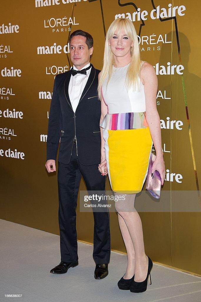 Topacio Fresh (R) attends Marie Claire Prix de la Moda Awards 2012 at the French Embassy on November 22, 2012 in Madrid, Spain.
