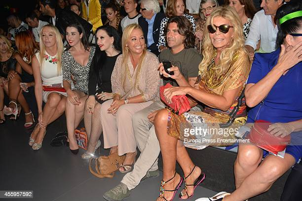 Topacio Fresh Marta Vaquerizo Alaska Belen Esteban Tono Sanchis and Bibiana Fernandez attend Mercedes Benz Fashion Week Madrid at Ifema on September...