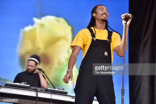 Topaz Jones performs during the 2018 Austin City Limits Music Festival at Zilker Park on October 5 2018 in Austin Texas
