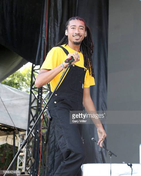 Topaz Jones performs in concert during the first day of ACL Festival at Zilker Park on October 5, 2018 in Austin, Texas.
