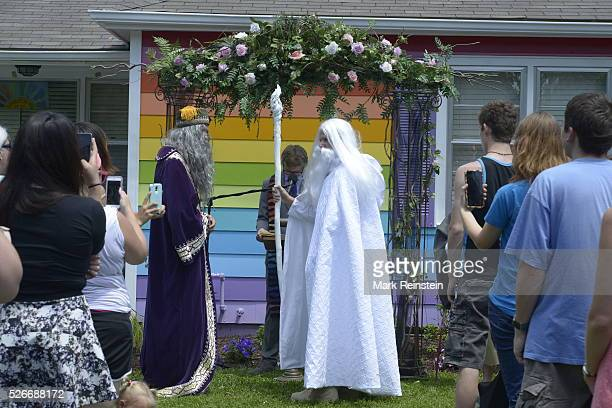 Topeka Kansas 672015 Gandalf The White and Albus Dumbledore got married today at the Rainbow House in Topeka Kansas Gandalf played by Daryl Hendrix...