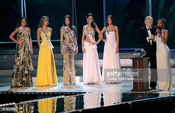 Topfive contestants Taliana Vargas Miss Columbia Dayana Mendoza Miss Venezuela Marianne Cruz Miss Dominican Republic Elisa Najera Miss Mexico and...