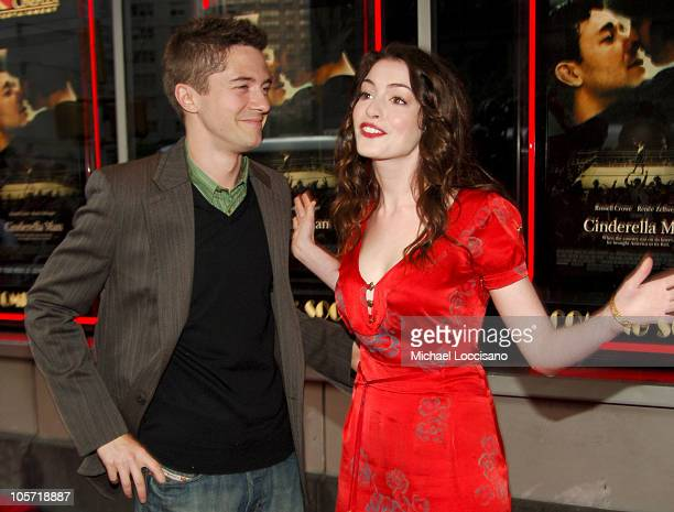 Topher Grace and Anne Hathaway during Cinderella Man New York City Premiere Benefiting The Children's Defense Fund at Loews Lincoln Square Theater in...
