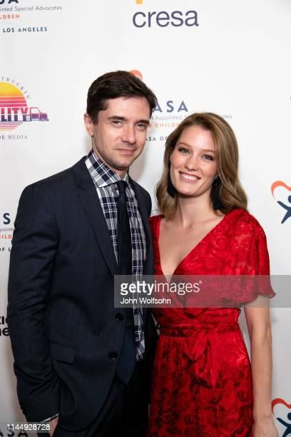 Topher Grace and Ashley Hinsaw Grace attend CASA Of Los Angeles' 7th Annual Evening To Foster Dreams at The Beverly Hilton Hotel on April 24, 2019 in...