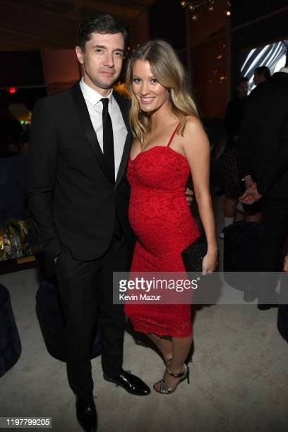 Topher Grace and Ashley Hinshaw attend The 2020 InStyle And Warner Bros. 77th Annual Golden Globe Awards Post-Party at The Beverly Hilton Hotel on...