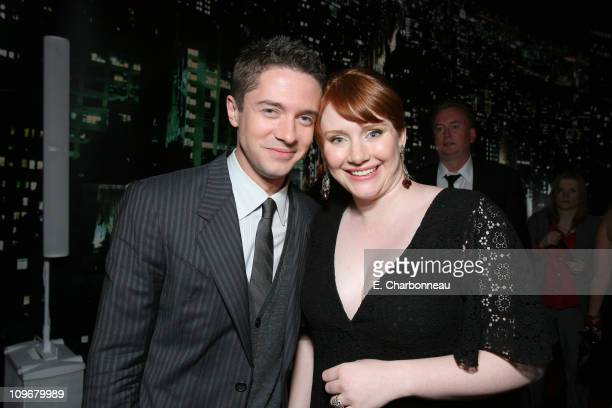 Topher Grace and Bryce Dallas Howard during US Premiere of Columbia Pictures' 'SpiderMan 3' at Kaufman Astoria 14 in Queens New York United States