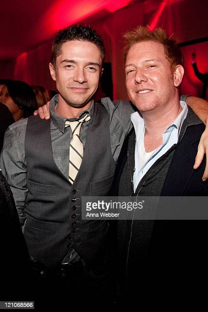 Topher Grace and guest attend L'Ermitage on January 29 2010 in Los Angeles California