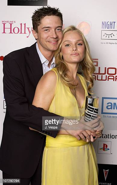 Topher Grace and Kate Bosworth during AMC Movieline's Hollywood Life Magazine's Young Hollywood Awards Portrait Gallery at El Rey Theatre in Los...