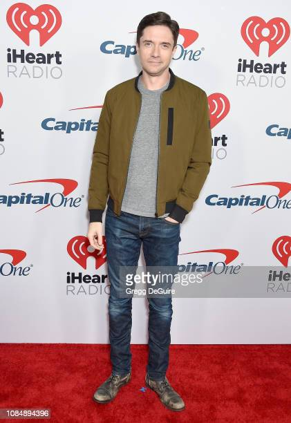Topher Grace arrives at the iHeartRadio Podcast Awards Presented By Capital One at iHeartRadio Theater on January 18 2019 in Burbank California