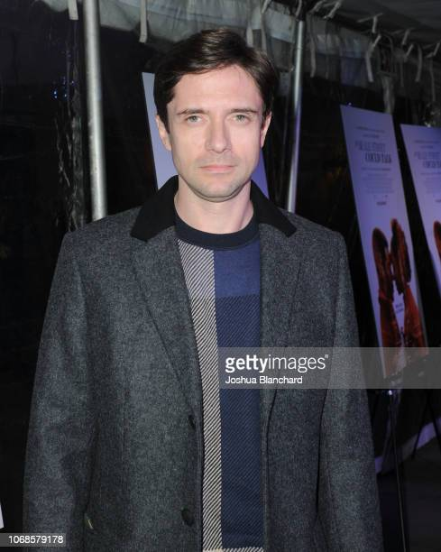 Topher Grace arrives at the Los Angeles Special Screening of Annapurna's If Beale Street Could Talk on December 4 2018 in Los Angeles California