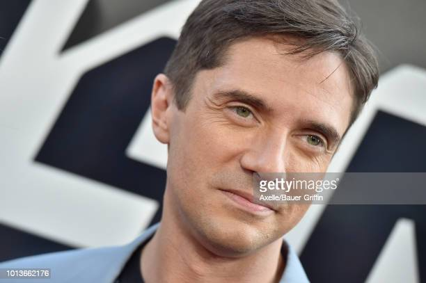 Topher Grace arrives at the premiere of Focus Features' 'BlacKkKlansman' at Samuel Goldwyn Theater on August 8 2018 in Beverly Hills California