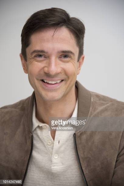 Topher Grace at the BlacKkKlansman Press Conference at the Four Seasons Hotel on August 8 2018 in Beverly Hills California