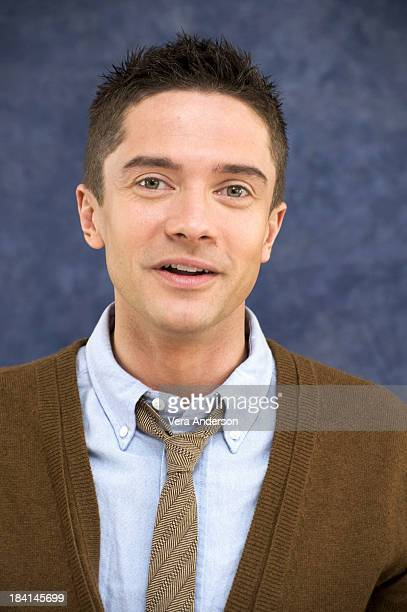 Topher Grace at the Valentine's Day press conference at the Beverly Hilton Hotel on February 1 2010 in Beverly Hills California